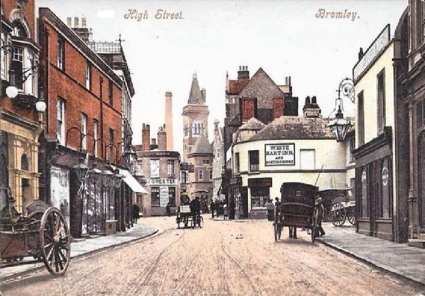 tinted photo of the high street
