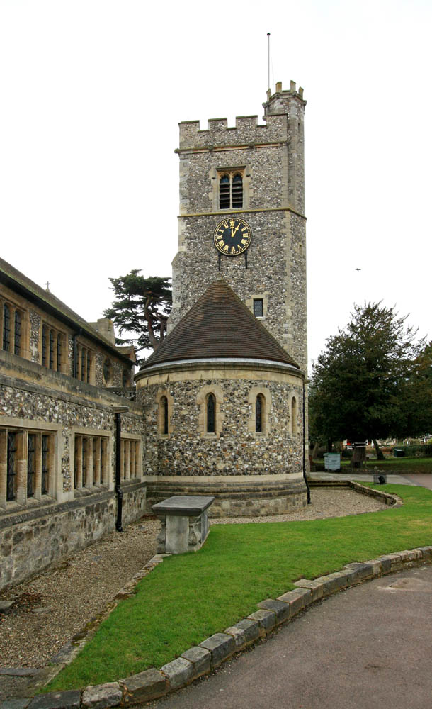 traditional flint stone tower