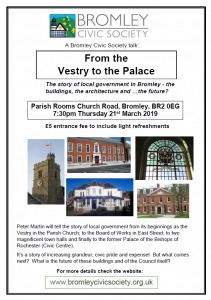 from the vestry to the palace (and where next?) - Peter's talk on Thursday